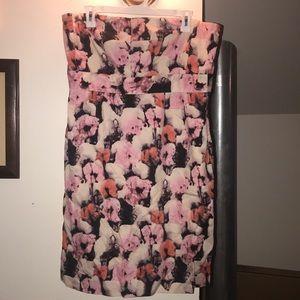 J Crew floral cocktail dress. Size 14